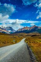 Gravel road in the Torres del Paine