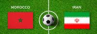 Football match Morocco vs. Iran