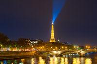 Eiffel Tower Siene Paris night