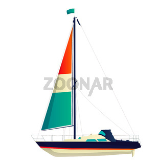 Sailing yacht vector