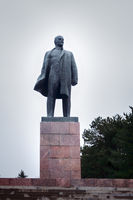 Bronze monument of Lenin.