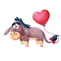 Cute, crazy, cute donkey characters.