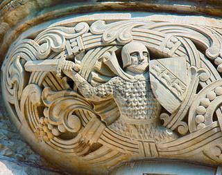 base of the Bay window (oriel) in Moorish style