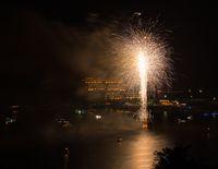 Fireworks over Cheat Lake near Morgantown, WV