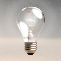 Digital 3D Illustration of a Light Bulb
