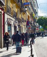 People at Madrid street, Spain