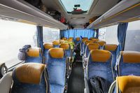 Bus interior seats