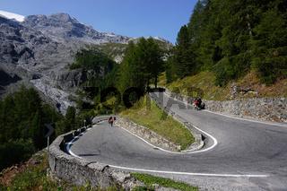 Stilfser Joch Passstraße, passo stelvio, Suedtirol, Vinschgau, Italien,