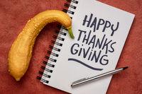 Happy Thanksgiving handwriting -greeting card