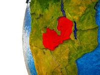 Zambia on 3D Earth