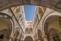 Arched inner courtyard in Sponza Palace