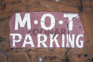Dodgy MOT Garage Sign