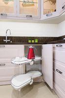 Kitchen corner unit with pullout shelves