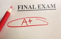 Perfect final exam score