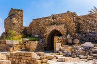 Ruins of protective walls.