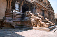 Northern entrance to mandapa, Subrahmanyam shrine, Brihadisvara Temple complex, Tanjore, Tamil Nadu. View from North East.