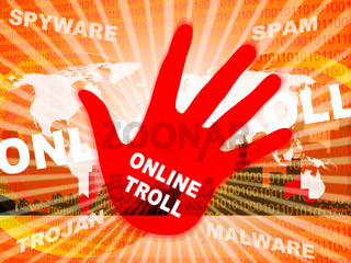 Online Troll Rude Sarcastic Threat 2d Illustration