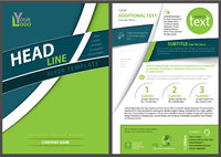 Modern Geometric Flyer Template with Curved Stripes