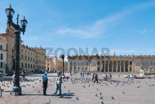 Bogota Bolivar square in a sunny day