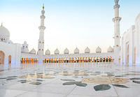 Sheikh Zayed Mosque in the evening. United Arab Emirates