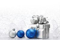 Christmas gift and balls