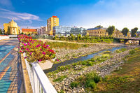 Vukovar city view from Vuka river bridge