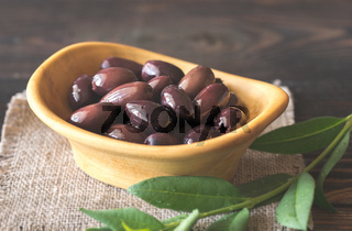 Bowl of kalamata olives