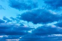 Sky with clouds afrer sundown