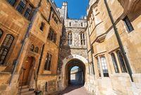 Windsor castle walls in England, United Kingdom.