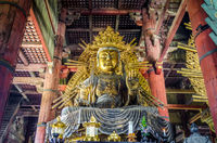 Vairocana buddha in Daibutsu-den Todai-ji temple, Nara, Japan