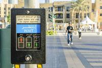 Pedestrian Crossing Machine in Arabic and English
