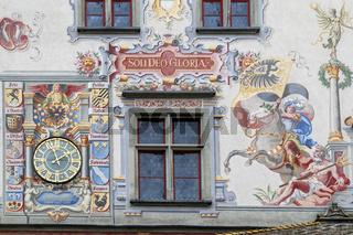 Fassadenbild, Altes Rathaus, Lindau, Bodensee