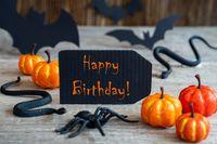 Black Label, Text Happy Birthday, Scary Halloween Decoration