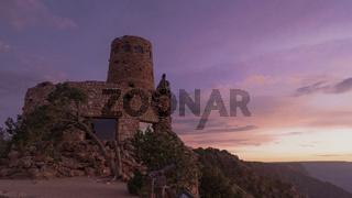 The Watchtower Desert View South Rim Grand Canyon Arizona at Sunset
