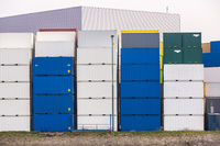 Cargo Containers Goods Stack