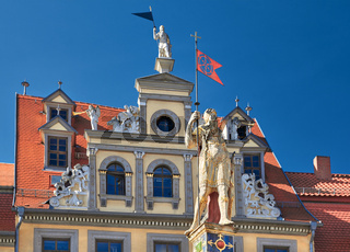 Red Ox House, a historical building on Fish Market Square in Erfurt