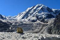 Grenzgletscher mit Liskamm, Zermatt, Wallis, Schweiz