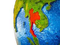Thailand on 3D Earth