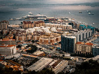 Gibraltar aerial view city
