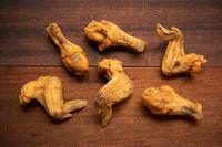 flat lay original recipe fried chickens
