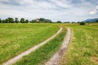 bavaria landscape green meadow