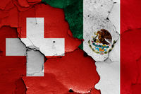 flags of Switzerland and Mexico