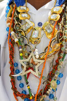Neklace used by man during traditional religious celebration in Brazil
