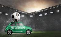 Saudi Arabia car on football stadium
