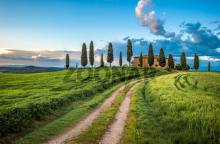 Scenic view of typical Tuscany landscape, Italy