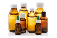 Medical bottles isolated on white background