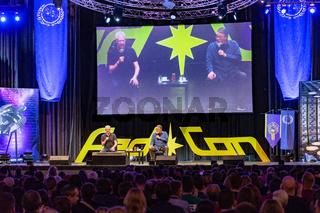 BONN, GERMANY - MAY 19th 2018: Brent Spiner and Jonathan Frakes at Fedcon 27