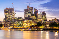 London downtown with River Thames sunset
