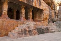 Cave 4 : Facade, Badami caves, Badami, Karnataka.