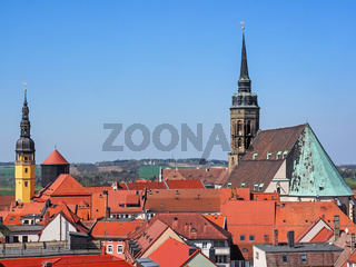 Luftbild der Stadt Bautzen in Sachsen, Ostdeutschland
